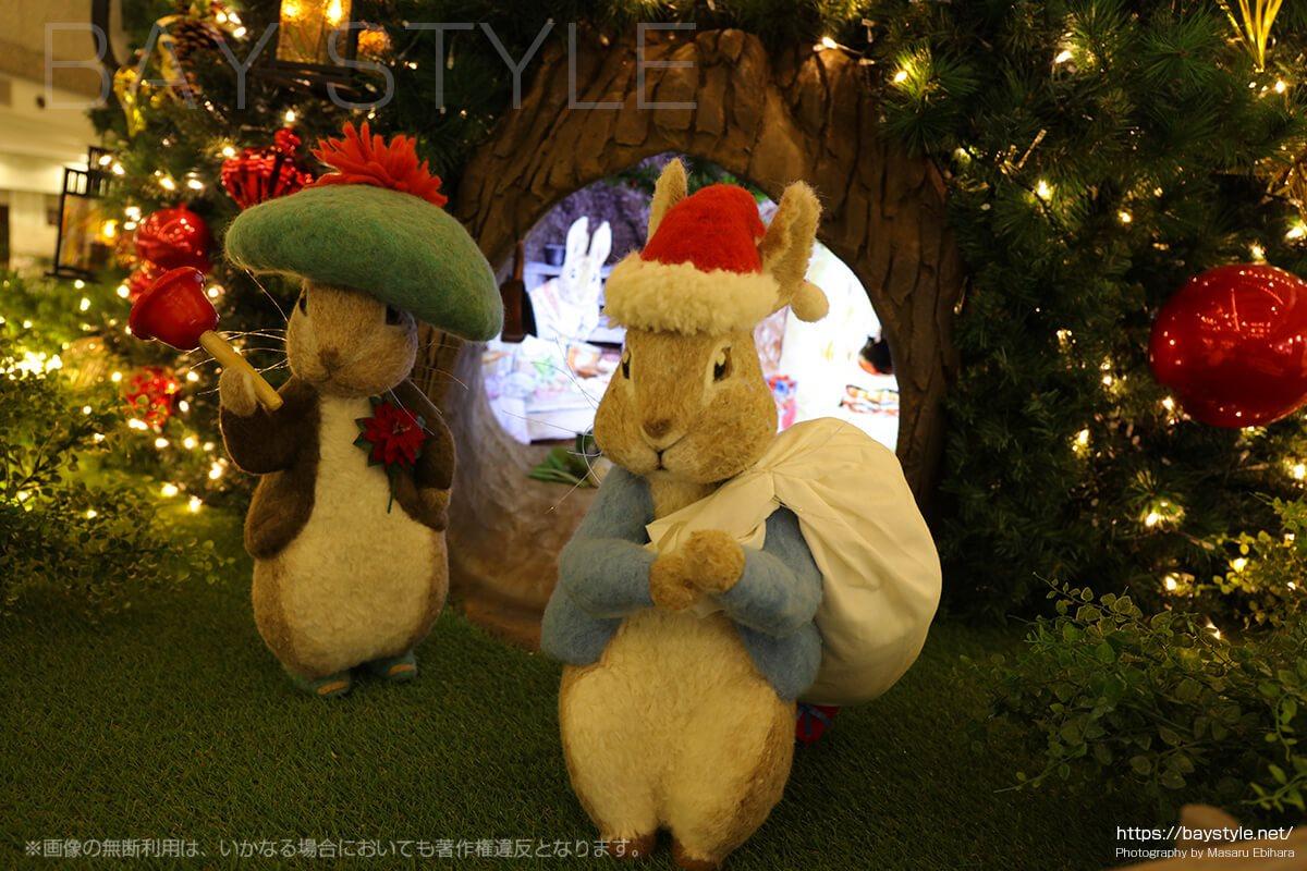 クリスマスバージョンの可愛いピーターラビット