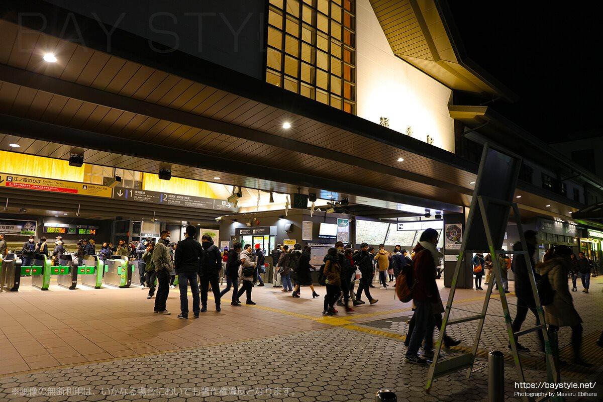 1月1日4時30分すぎのJR鎌倉駅の様子