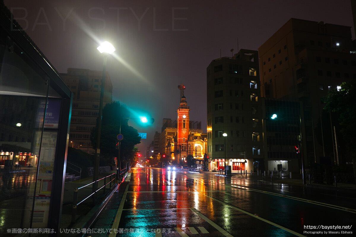雨の日の横浜開港記念館