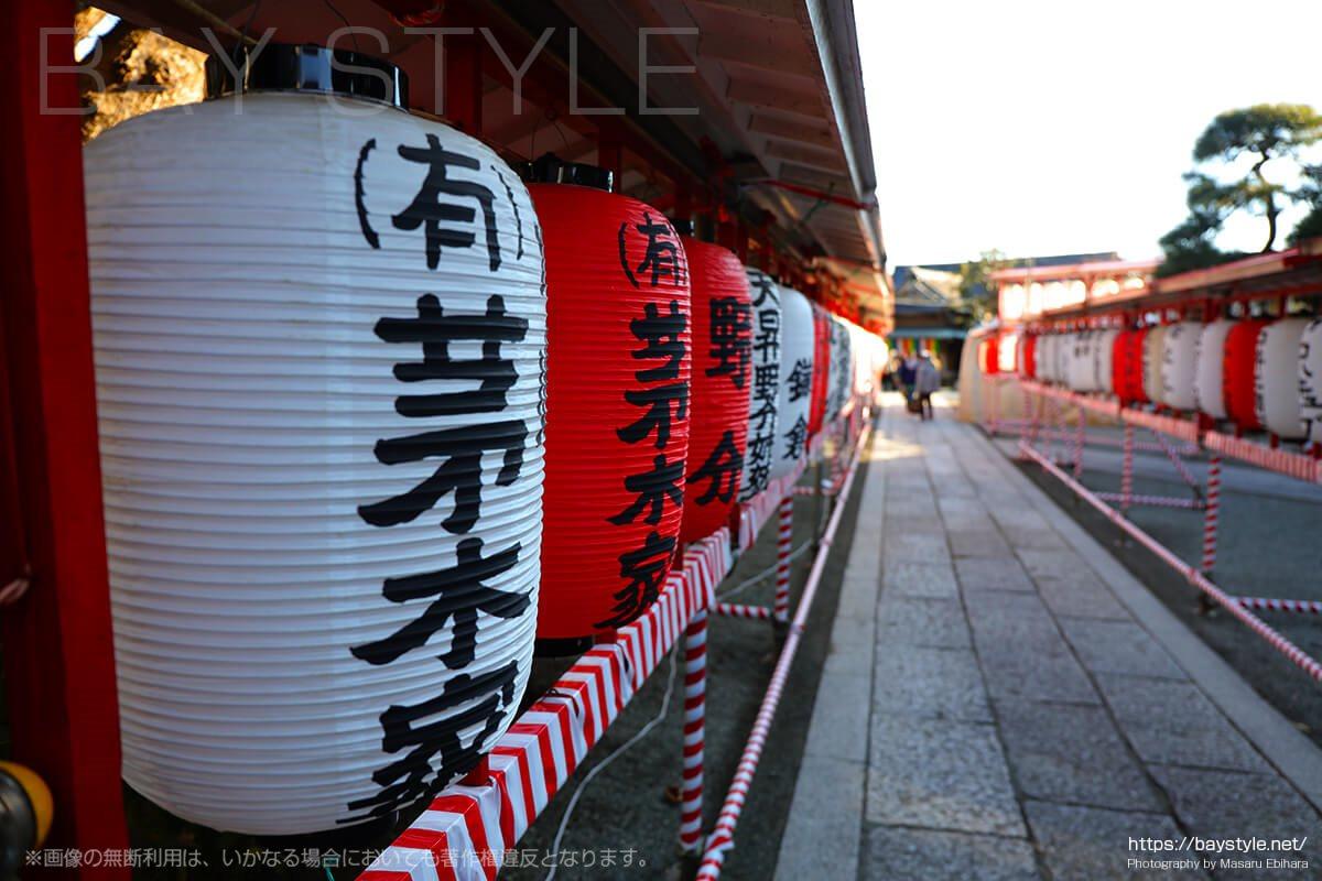 鎌倉えびす、本えびす開催期間中の本覚寺の裏門