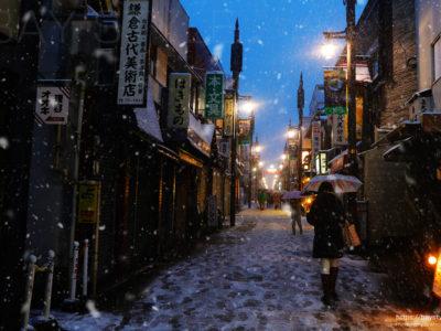 雪の日の小町通