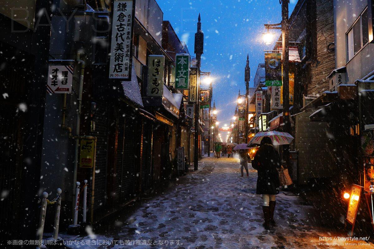 雪の日の鎌倉