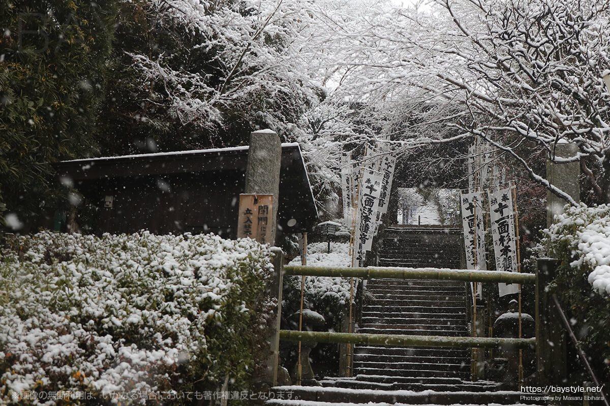 雪の日の杉本寺