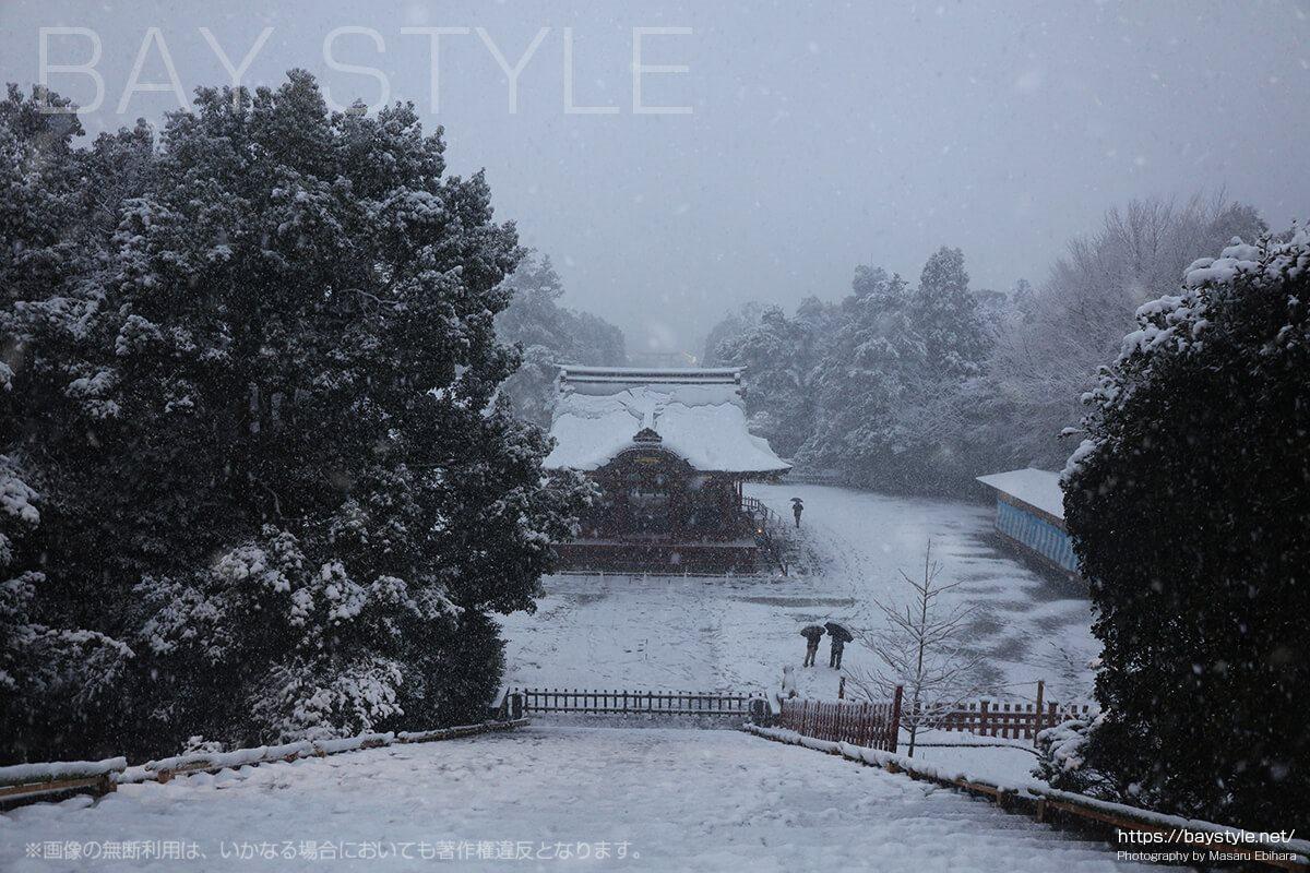 大石段上からの鎌倉の景色