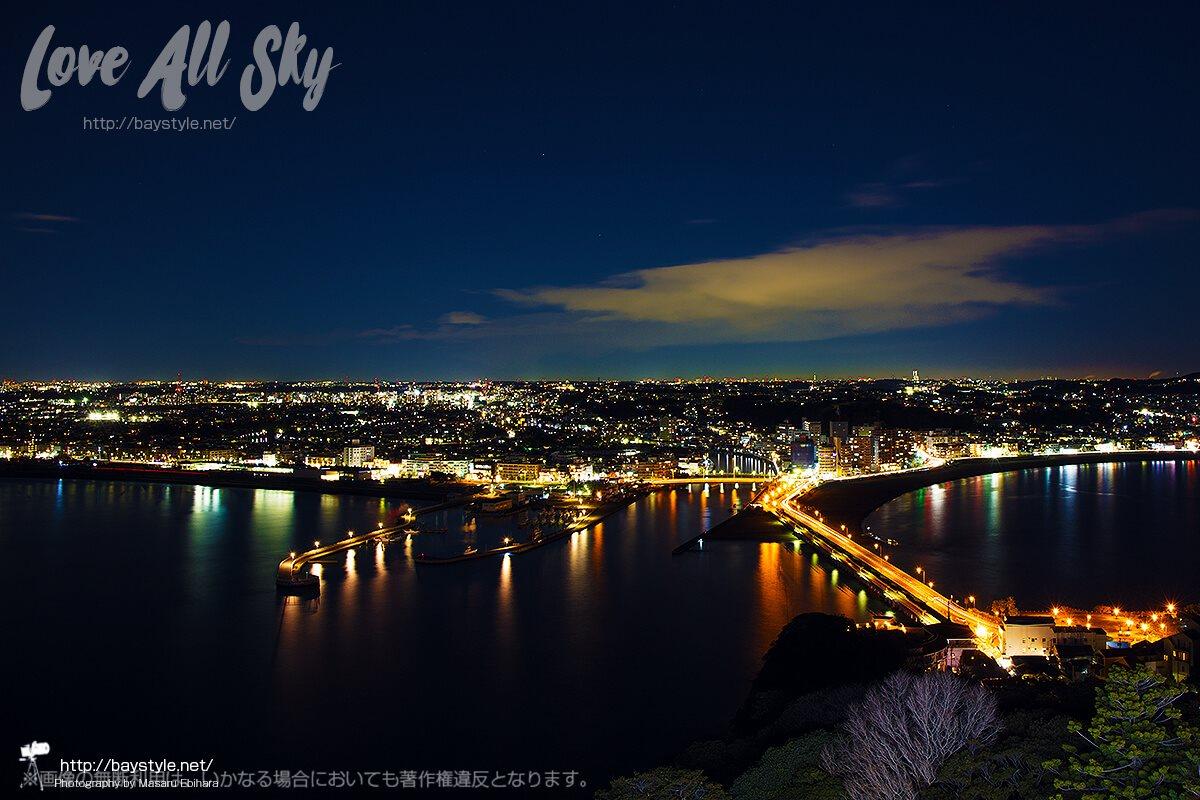 江の島シーキャンドルからの夜景