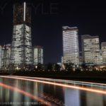 北仲通北第三公園の夜景
