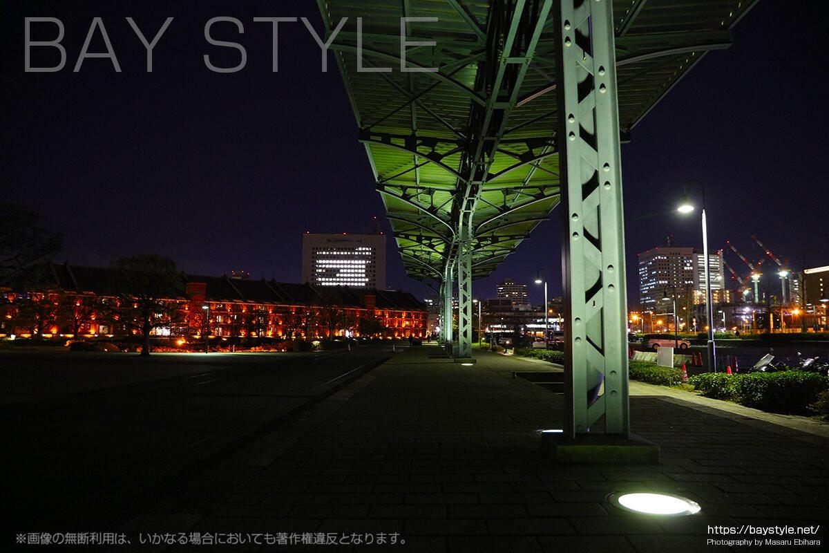 旧横浜港駅プラットホームの夜景