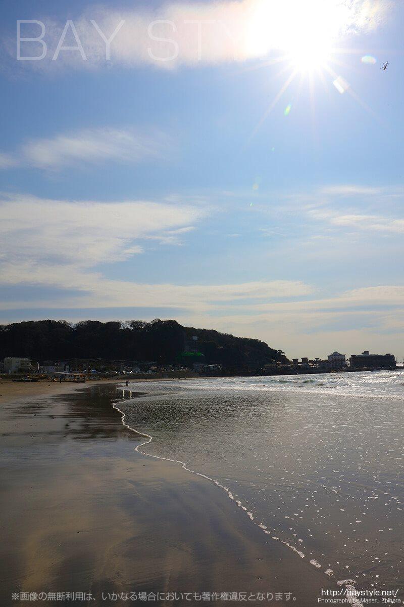 材木座海岸の景色