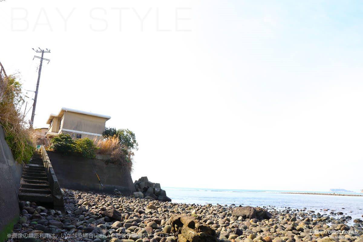 和賀江島の横の階段