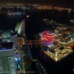 ランドマークタワー展望台(スカイガーデン)の夜景