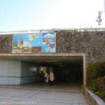 江ノ島入口の交差点の地下道入口