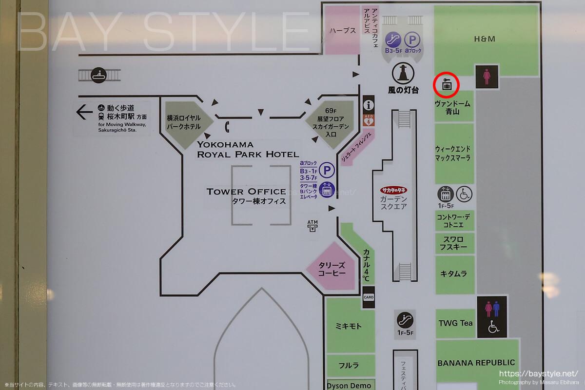 ランドマークプラザ3階の案内図