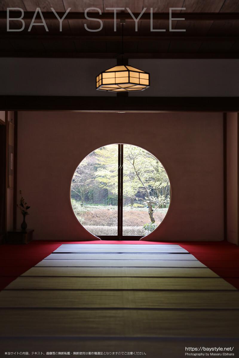 明月院の円窓