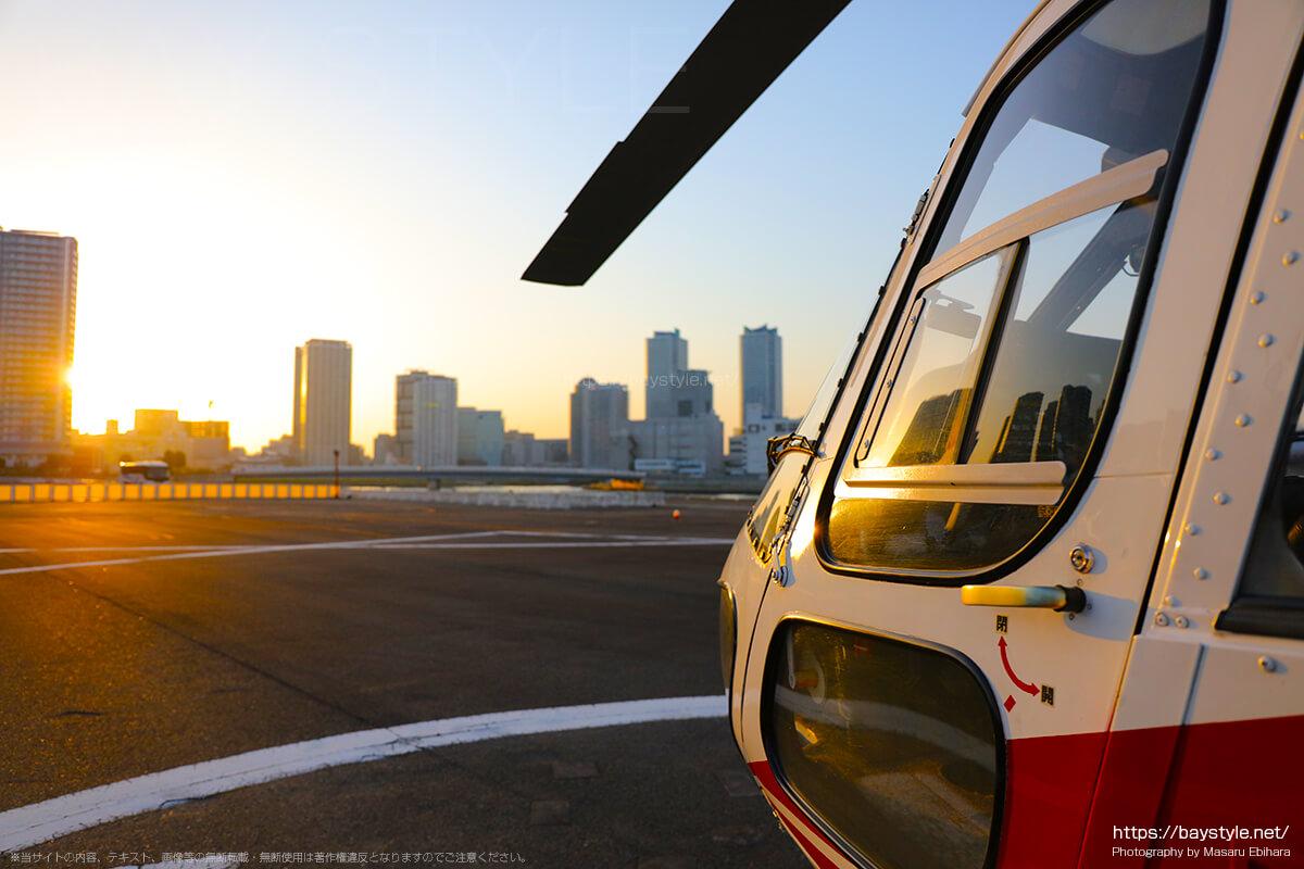 今日の横浜の天気と日没時間