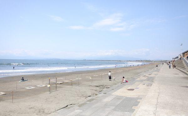 片瀬西浜・鵠沼海水浴場、2020年の様子