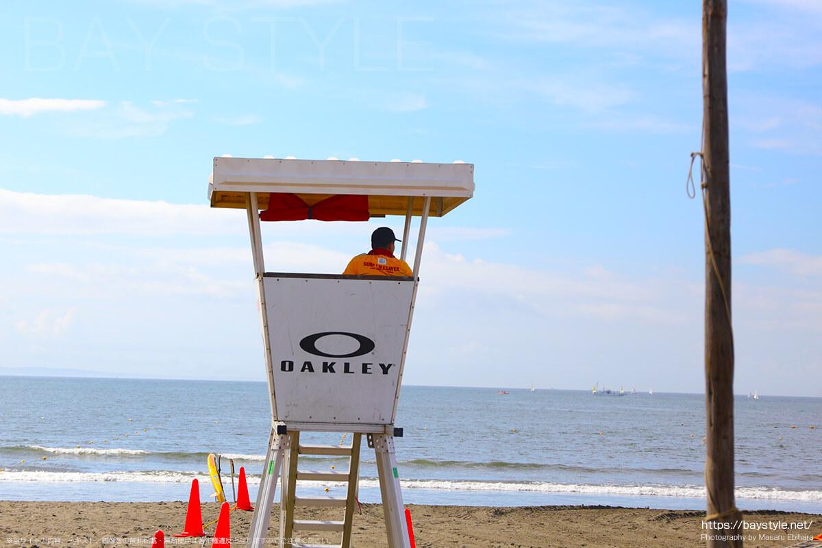 片瀬東浜海水浴場のライフセーバー