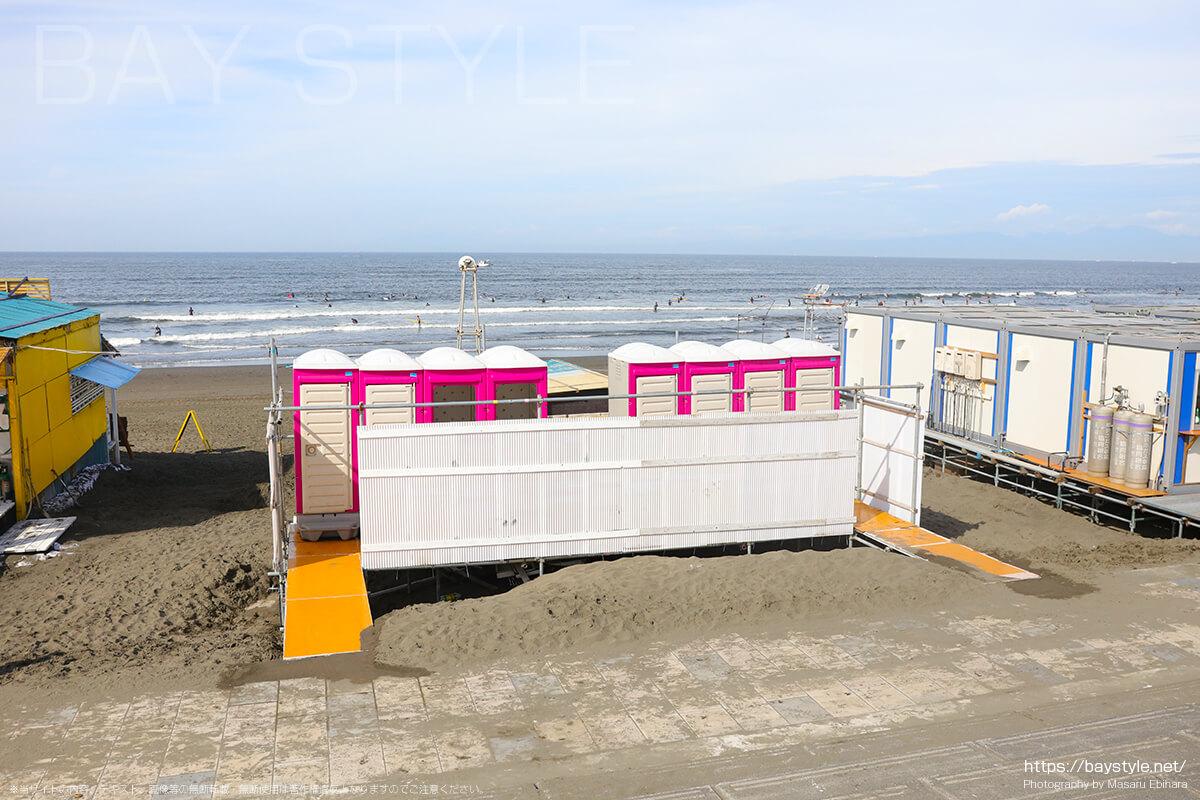 鵠沼海岸のトイレ