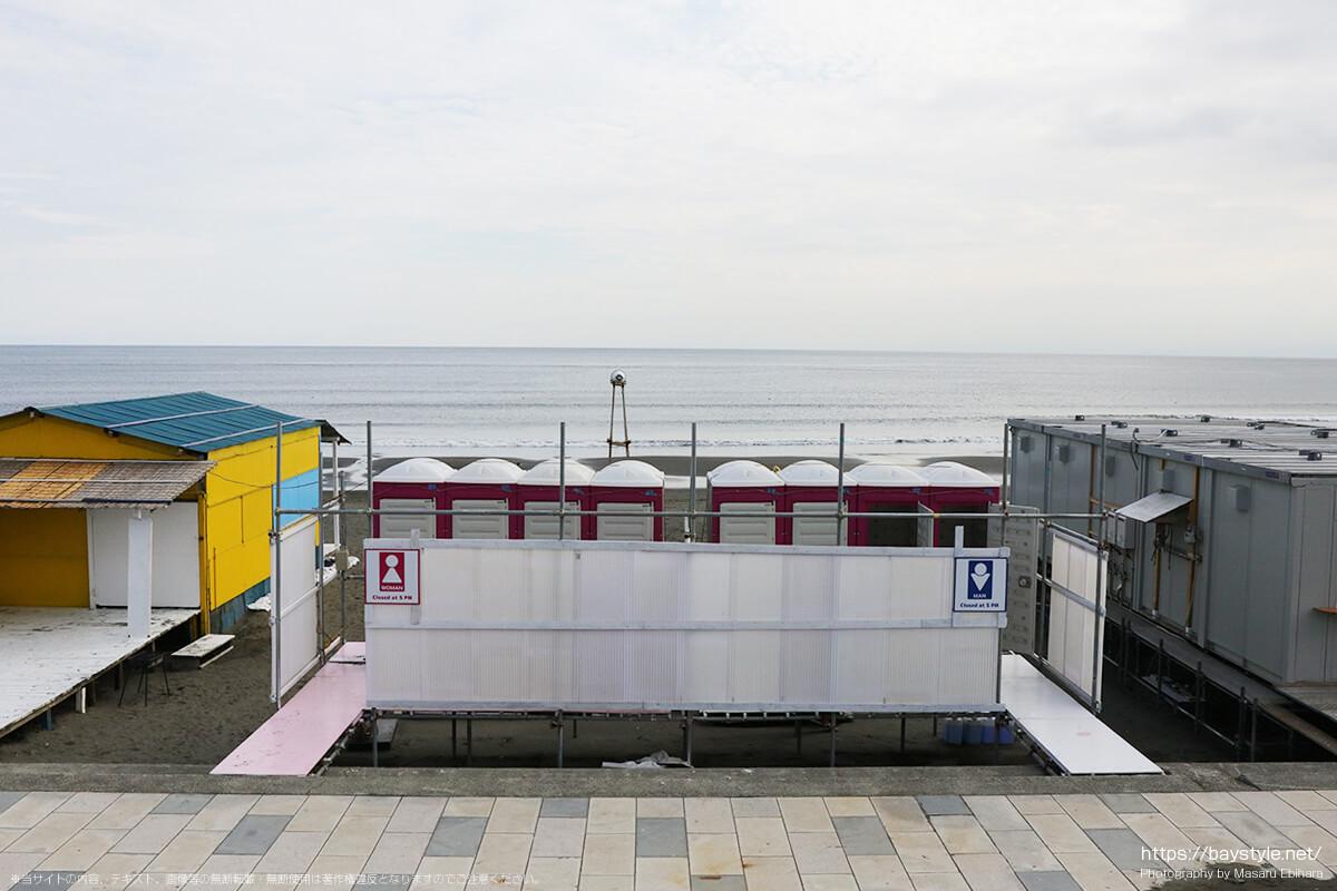鵠沼海岸のトイレ(2019年撮影)