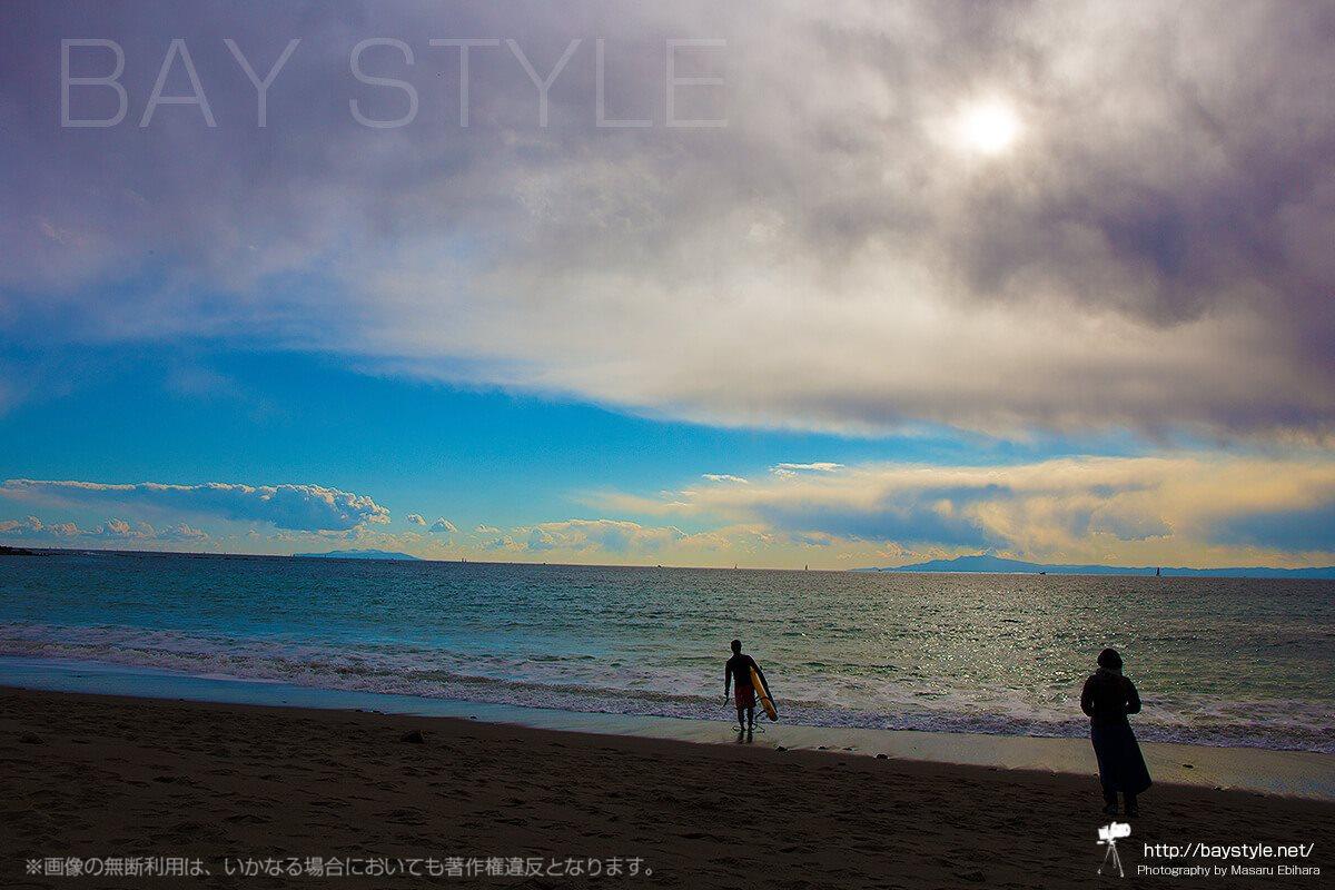 冬の一色海岸
