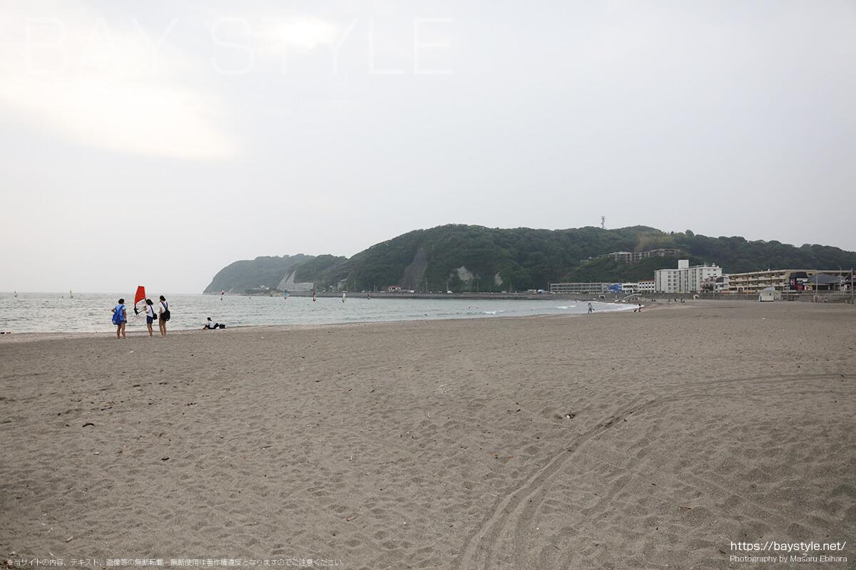 5月中旬に撮影した逗子海岸の様子