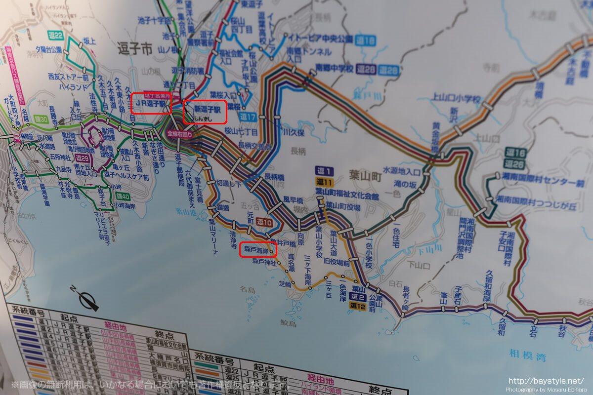 森戸海岸への車と電車、バスでのアクセス方法