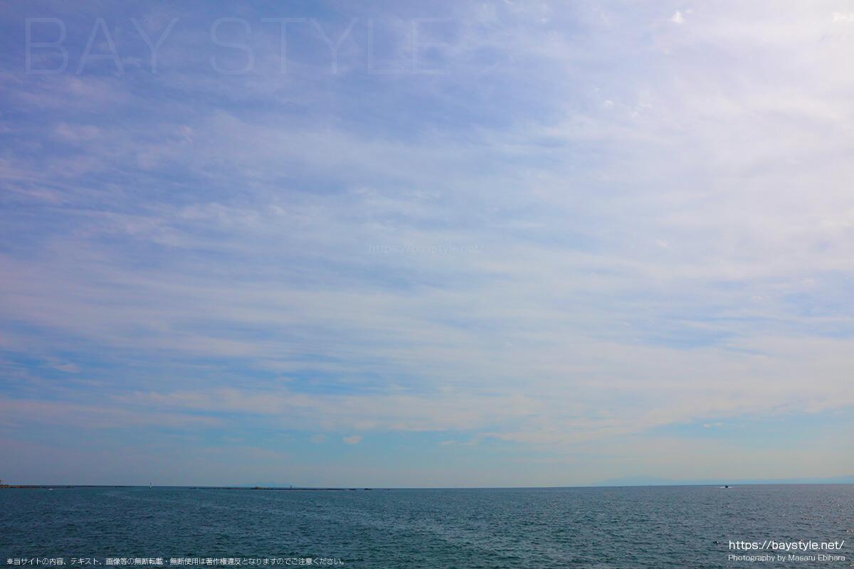 葉山湾からの眺め