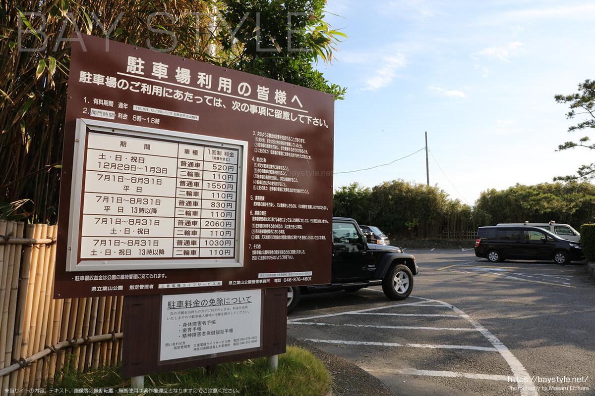 葉山公園駐車場の料金
