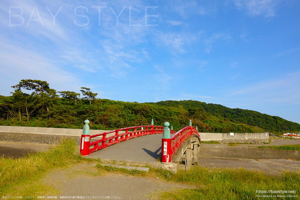 一色海水浴場の臨御橋(りんぎょばし)