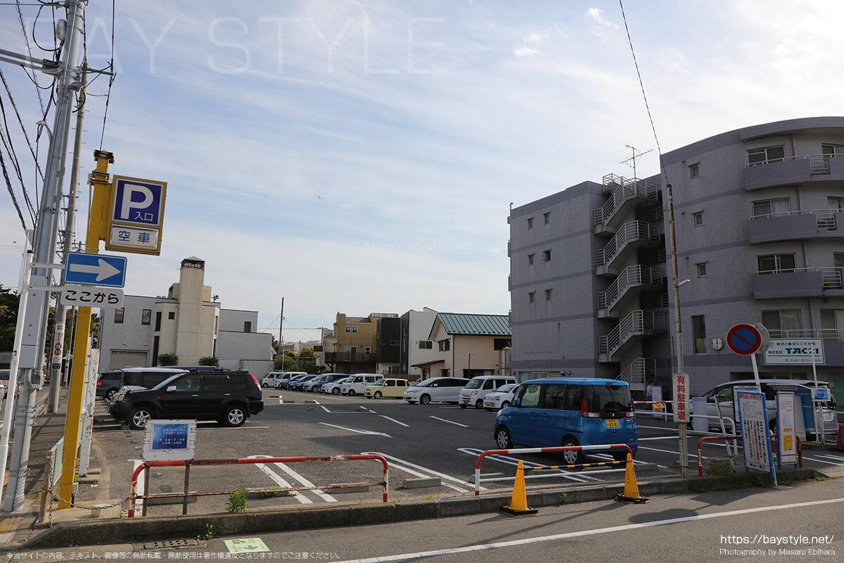 葉山町真名瀬駐車場