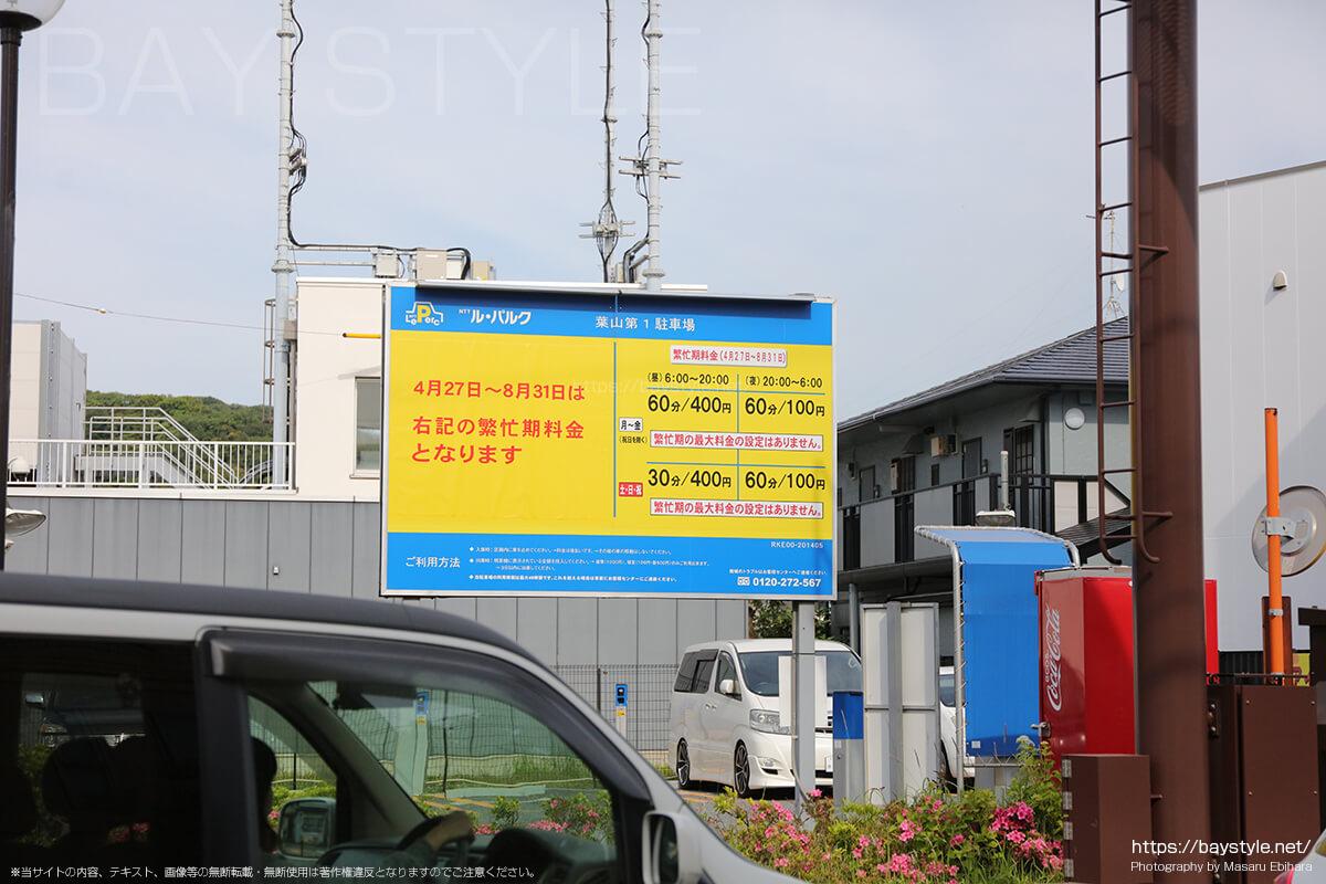 NTTルパルク葉山第1駐車場の料金