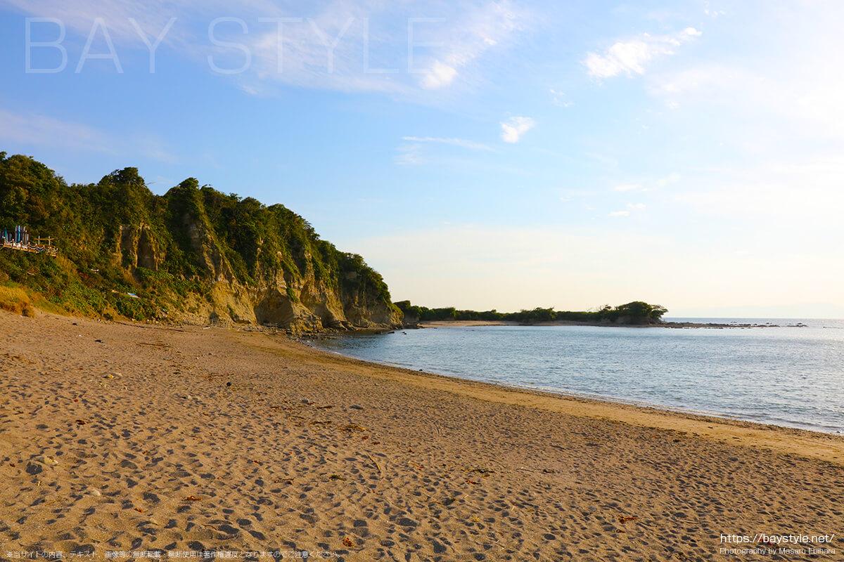 長者ヶ崎海水浴場の砂浜