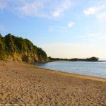 長者ヶ崎海水浴場の海岸と砂浜