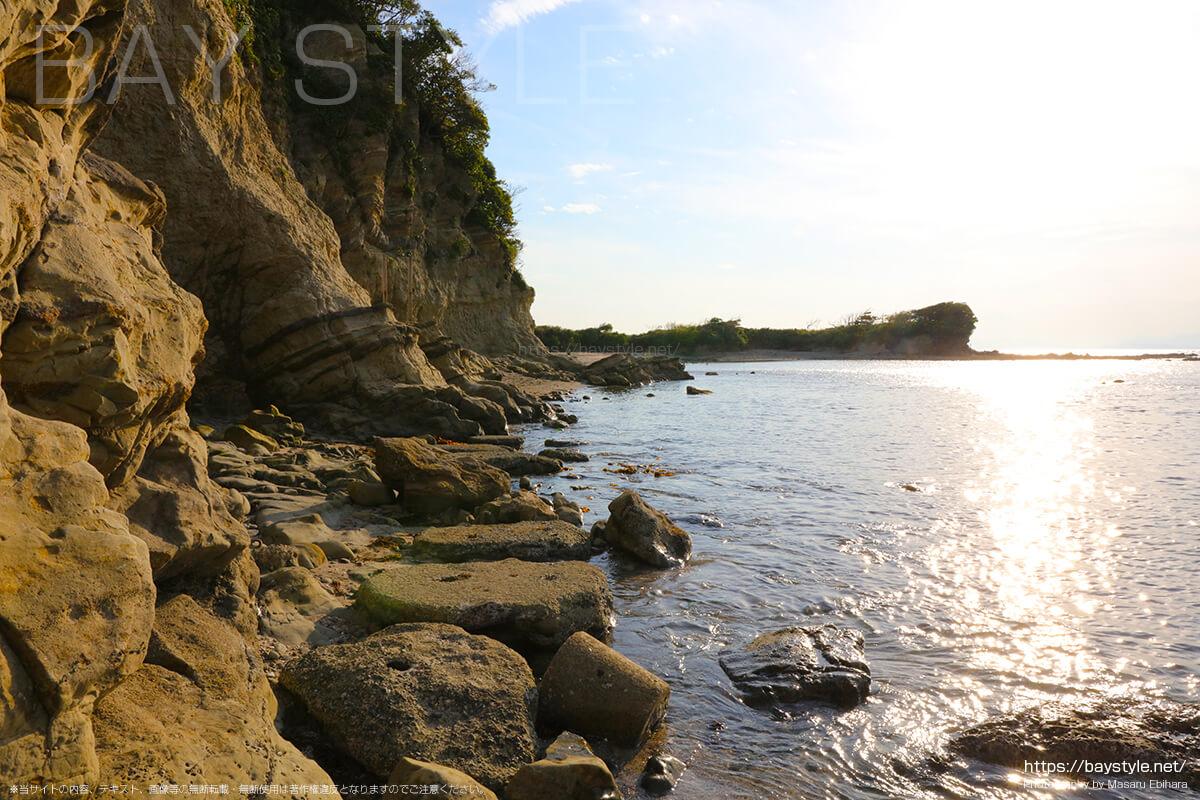 長者ヶ崎海水浴場の岬