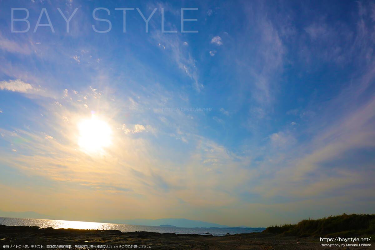 長者ヶ崎海水浴場の岬の先端