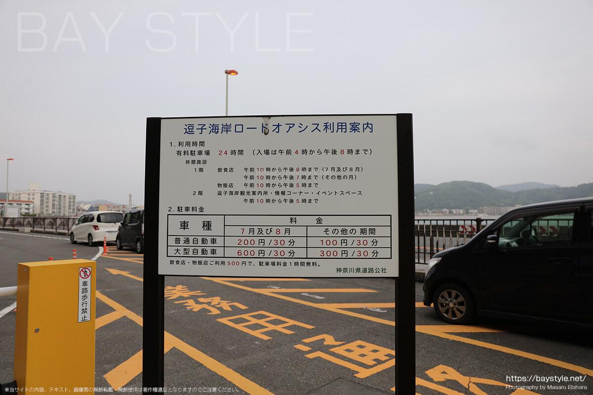 神奈川県道路公社逗子海岸駐車場の料金