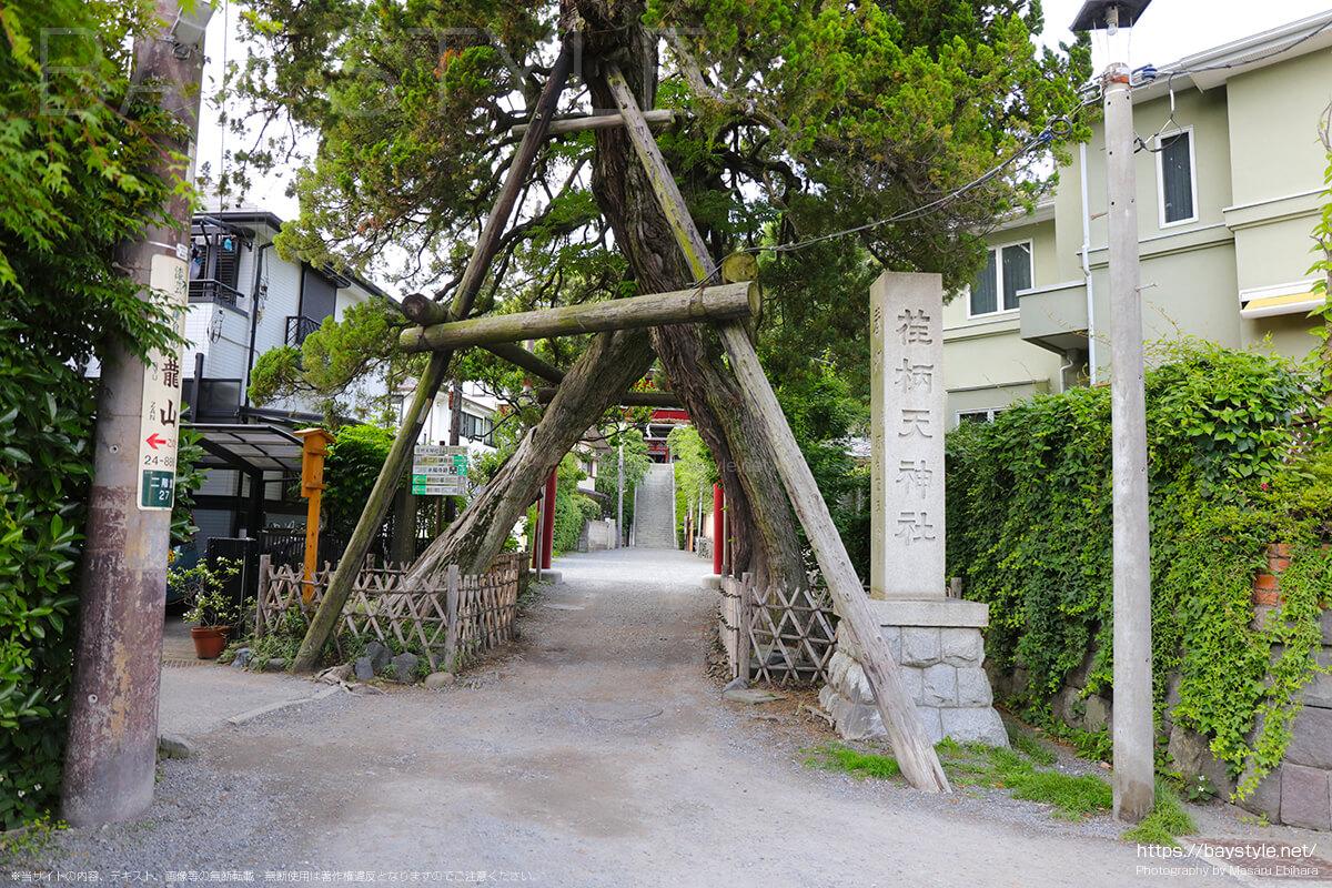 荏柄天神社の入口