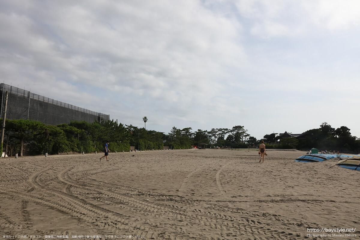 森戸海岸海水浴場、2020年の様子