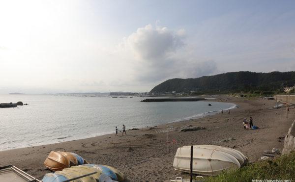 長者ヶ崎、大浜海岸海水浴場、2020年の様子