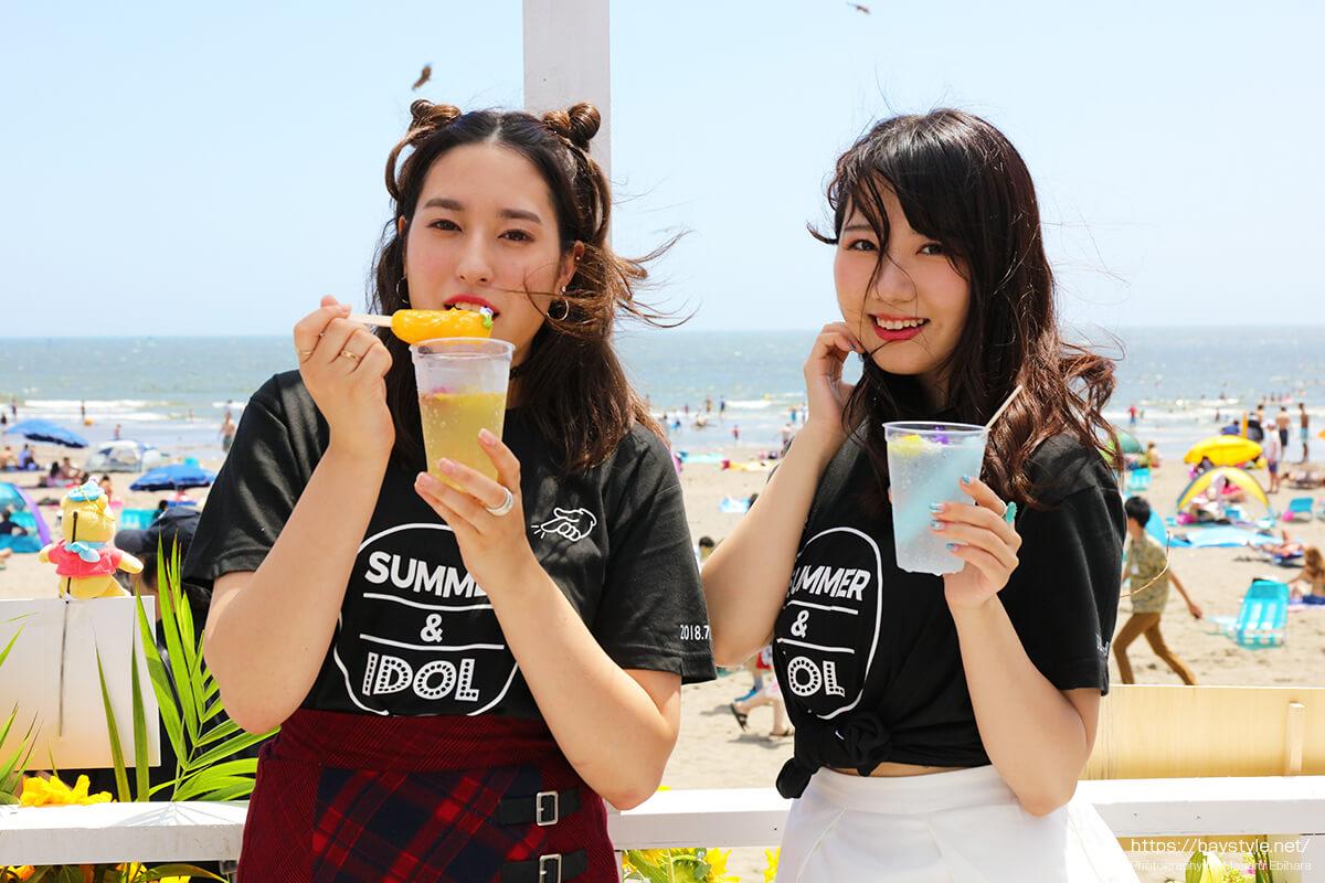 ビーチカフェ「SUMMER&IDOL」内覧会試食会