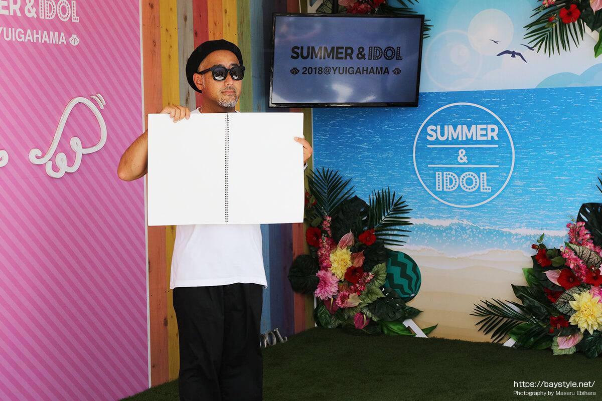 ビーチカフェ「SUMMER&IDOL」内覧会の様子