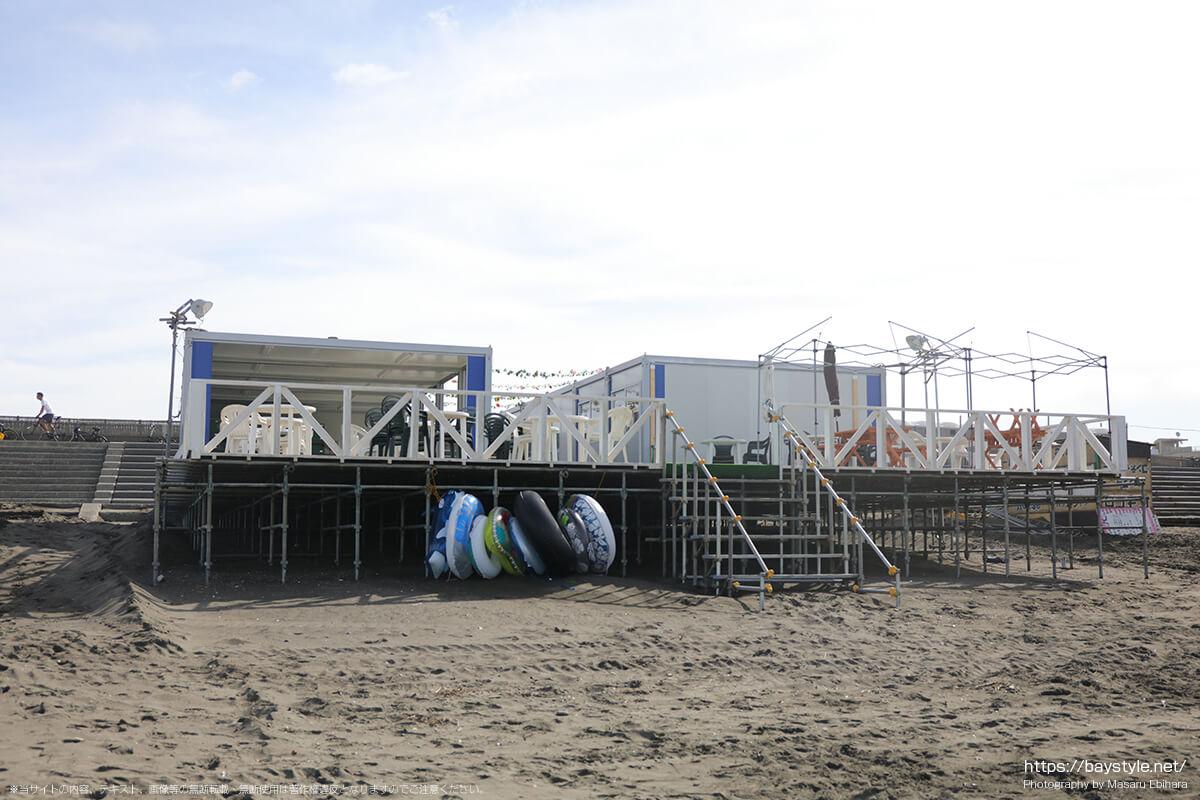 Corsair湘南、片瀬西浜海水浴場(鵠沼海岸)の海の家