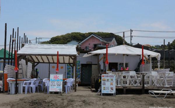 ヒマワリ、材木座海水浴場海の家