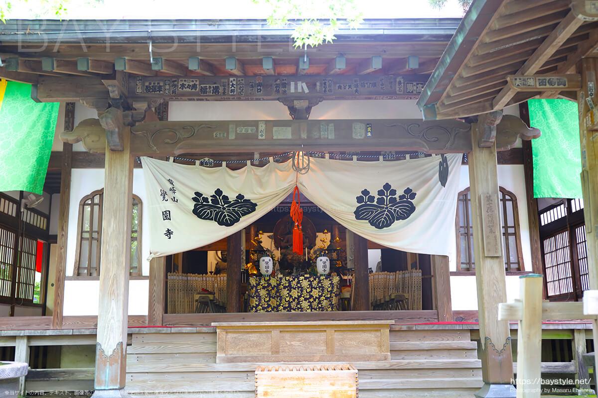 黒地蔵縁日が開催されている期間中のお堂の様子