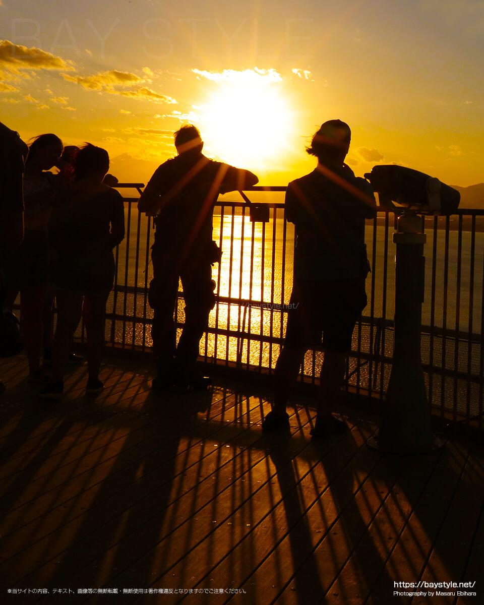 2018年8月17日 18時25分の江ノ島シーキャンドルからの夕暮れ
