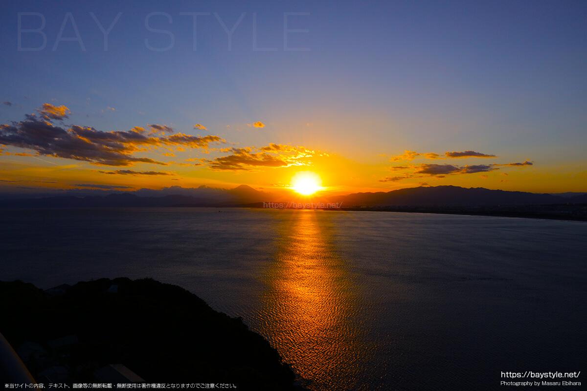 2018年8月17日 18時34分の江ノ島シーキャンドルからの夕暮れ
