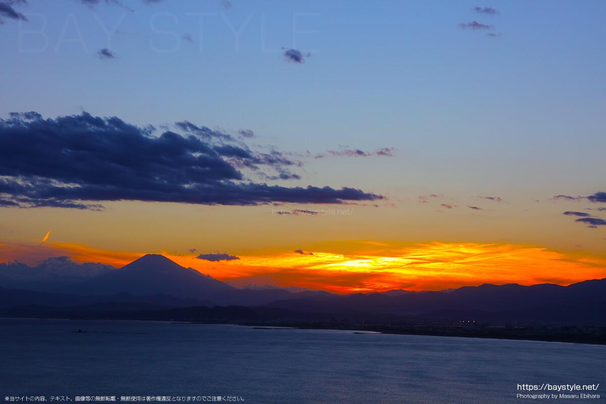 2018年8月17日 18時47分の江ノ島シーキャンドルからの夕暮れ