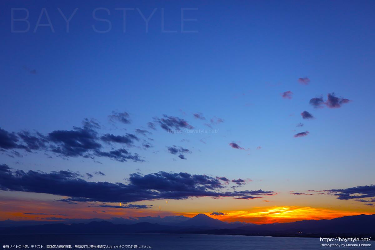 2018年8月17日 18時48分の江ノ島シーキャンドルからの夕暮れ