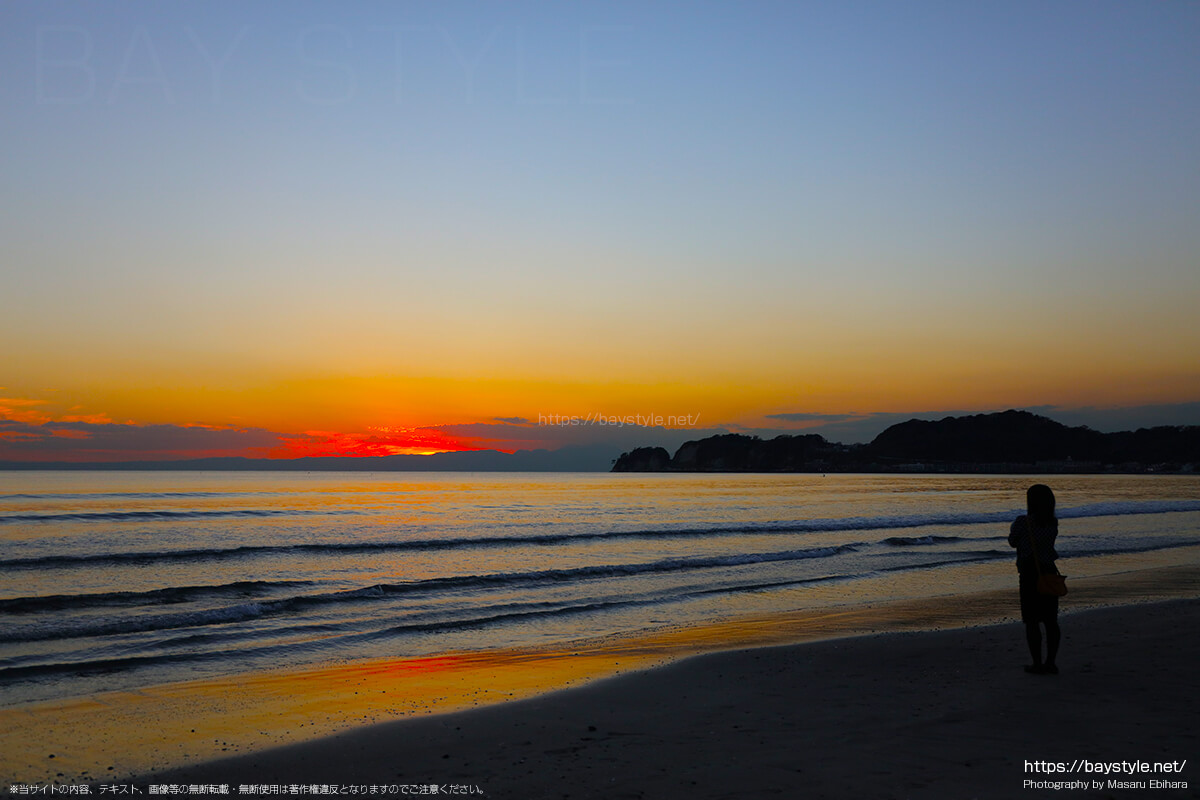 材木座海岸からの夕暮れ