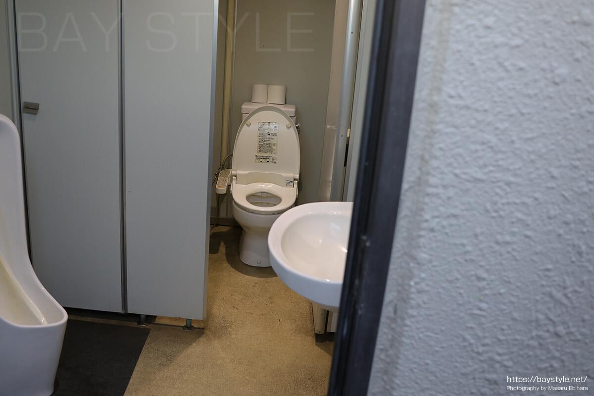 ウォシュレット式に対応した海芝浦駅のトイレ