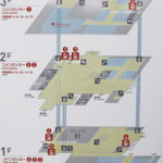 JR新横浜駅のコインロッカー案内図